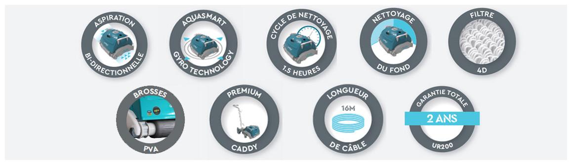 pictogramme du robot de piscine bwt ur200