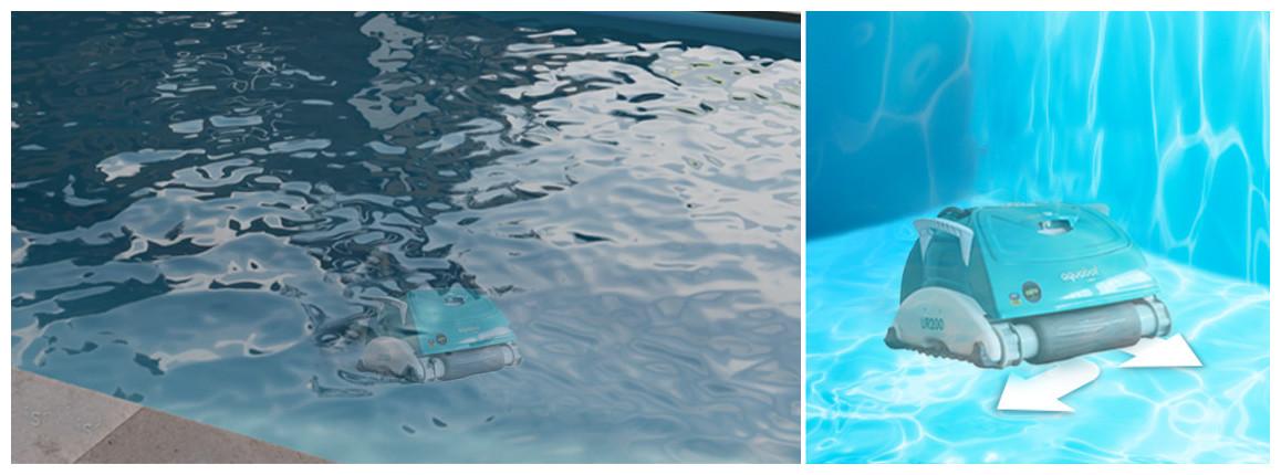 déplacement du robot de piscine UR200 BWT