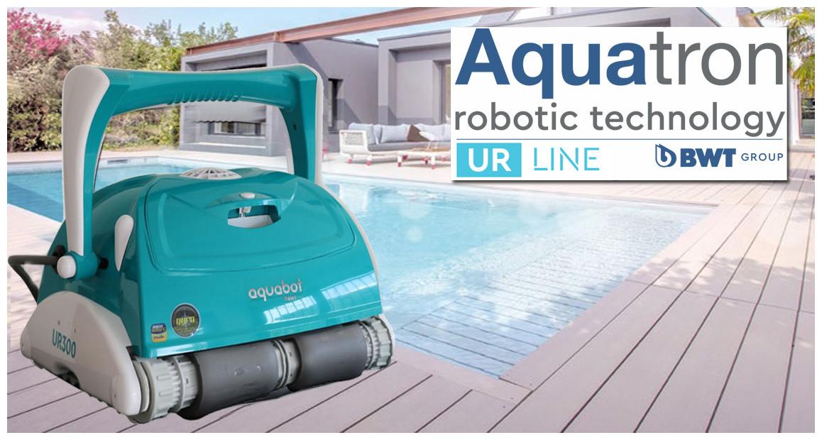 robot électrique pour piscine ur300 bwt en situation