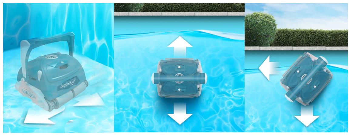 nettoyage du fond parois ligne d'eau du robot bwt UR300
