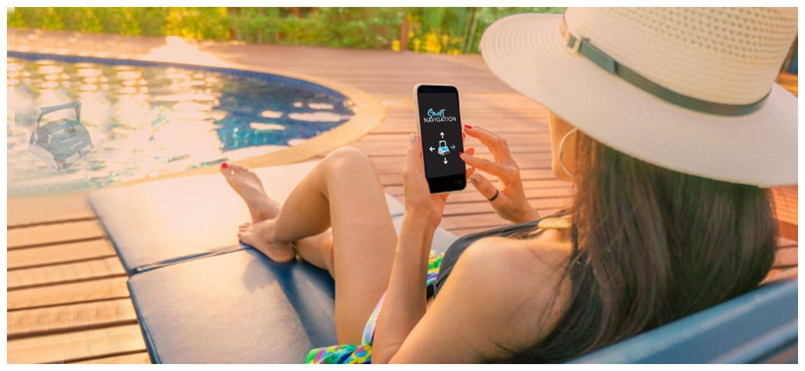 application du robot nettoyeur de piscine UR400 BWT