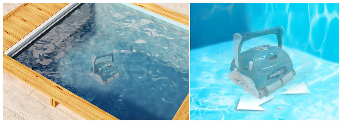 déplacement du robot de piscine UR400 BWT