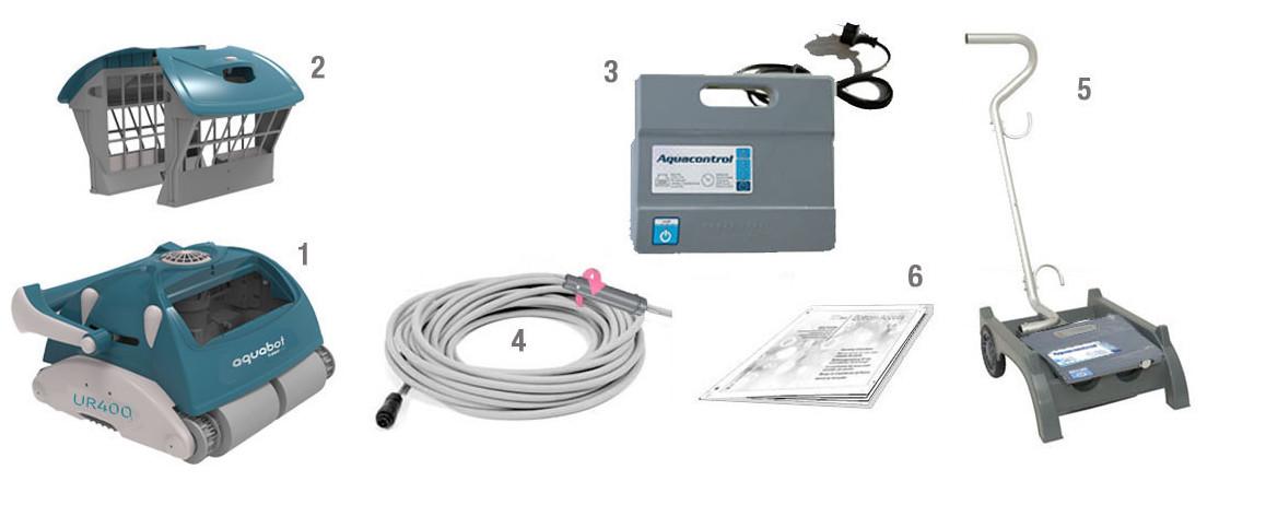 équipement du robot de piscine UR400 BWT AQUATRON