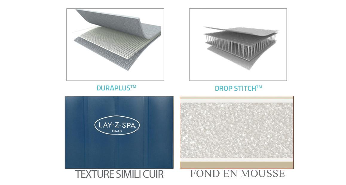 matériaux du spa bestway lay z