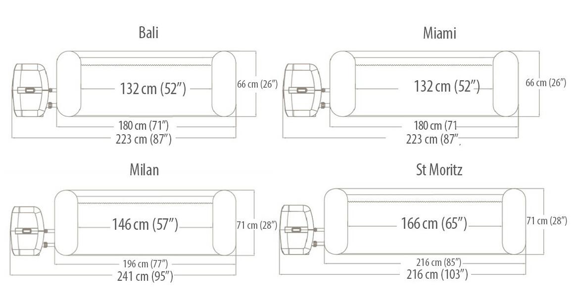 dimensions des spas spas bestway ronds