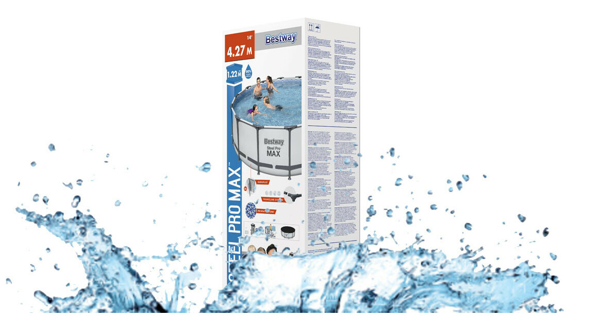 Package de la piscine hors sol gonflable bestway steel pro max