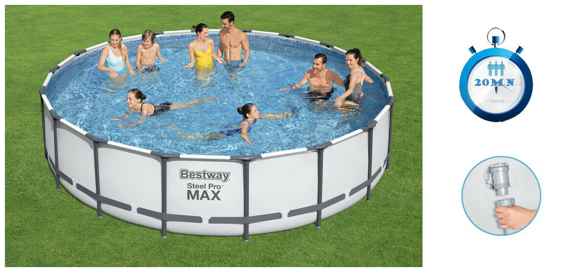 descriptif de la piscine tubulaire bestawy steel pro max