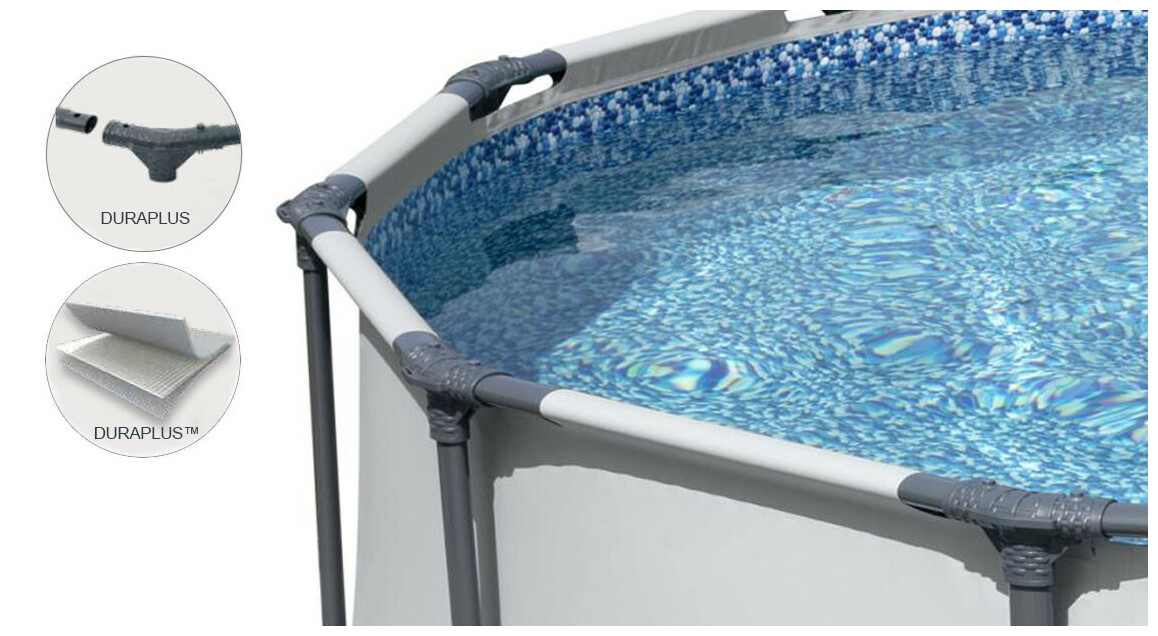 structure de la piscine tubulaire en kit bestway steel pro max