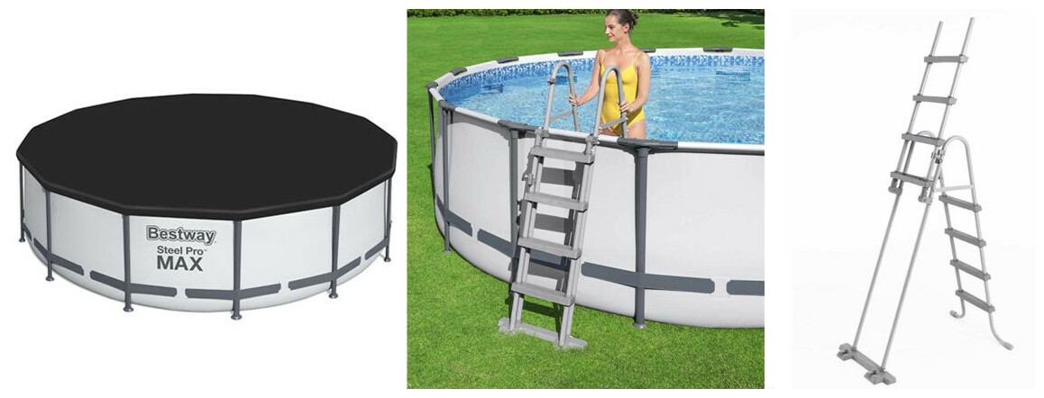 équipement de la piscine bestway power steel pro max