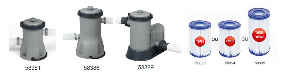 filtration de la piscine tubulaire bestway steel pro max