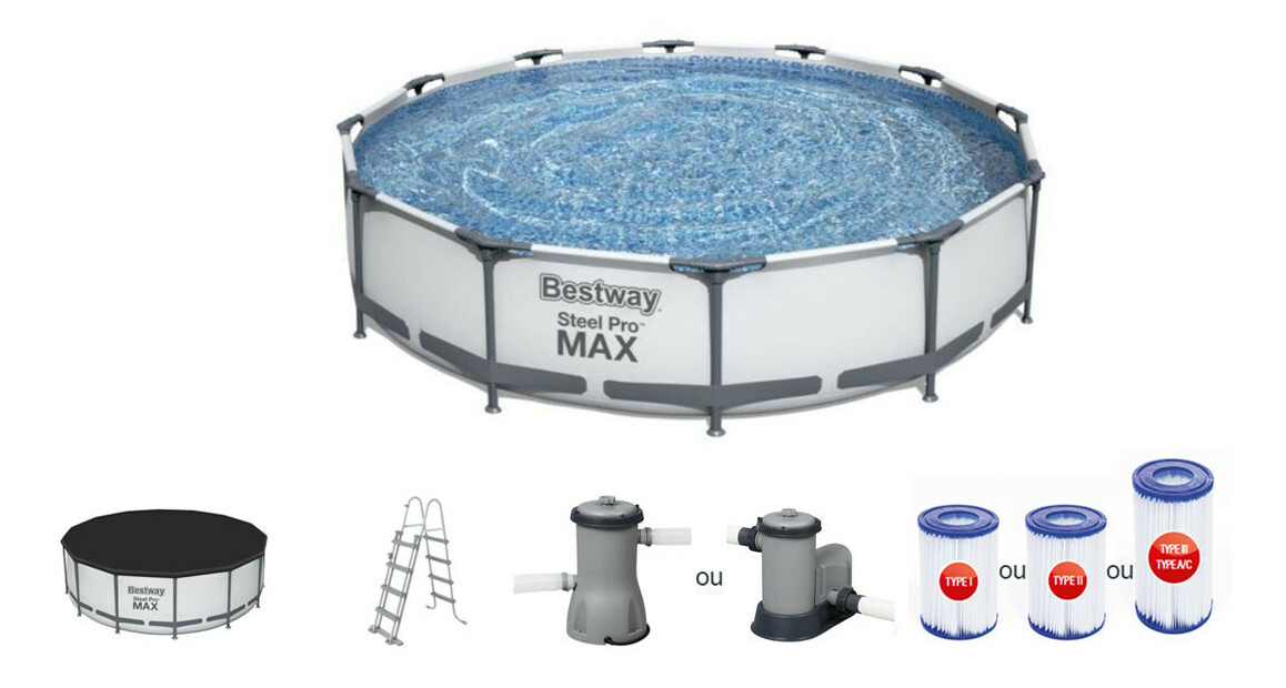 équipement de la piscine tubulaire betway power steel pro max