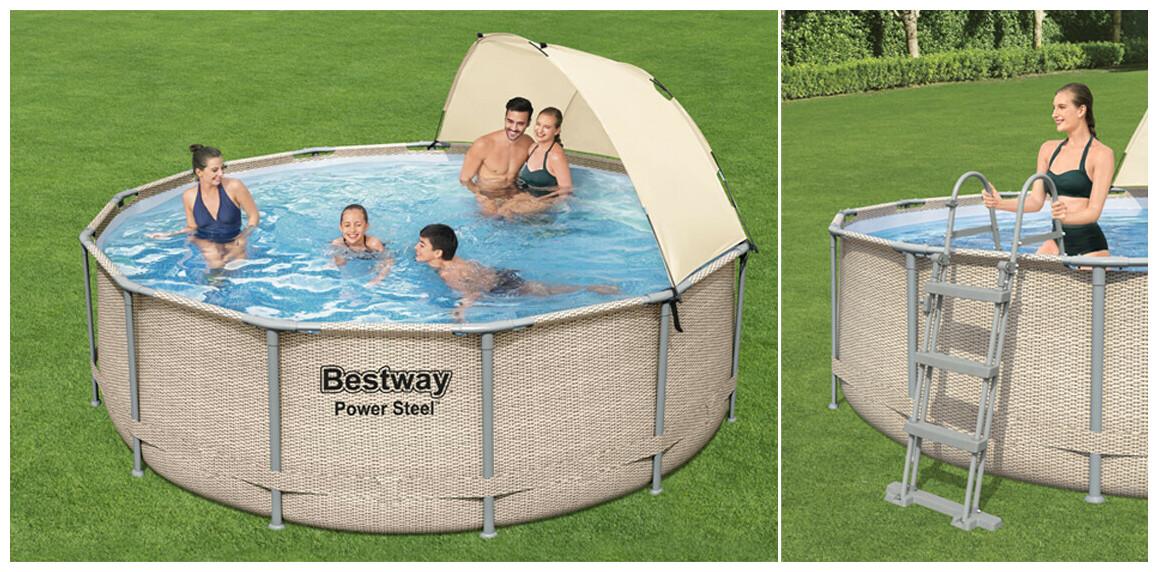 descriptif de la piscine tubulaire bestway power steel ronde en rotin