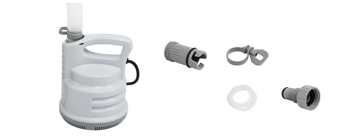 accessoires de la pompe vide cave bestway en situation