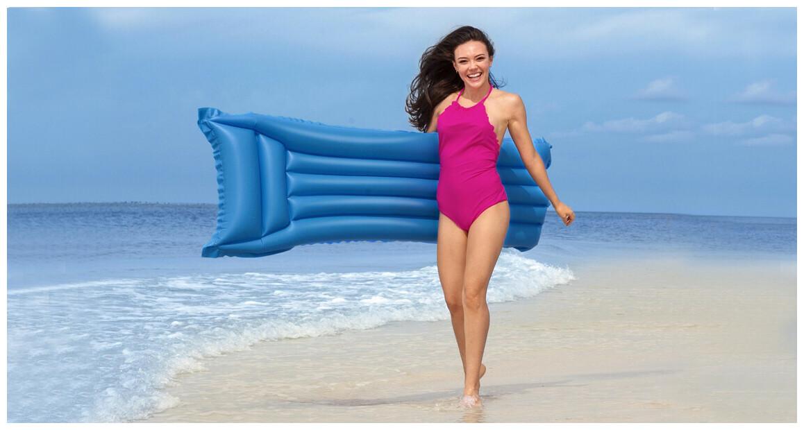matelas gonflable bestway mat finish plage