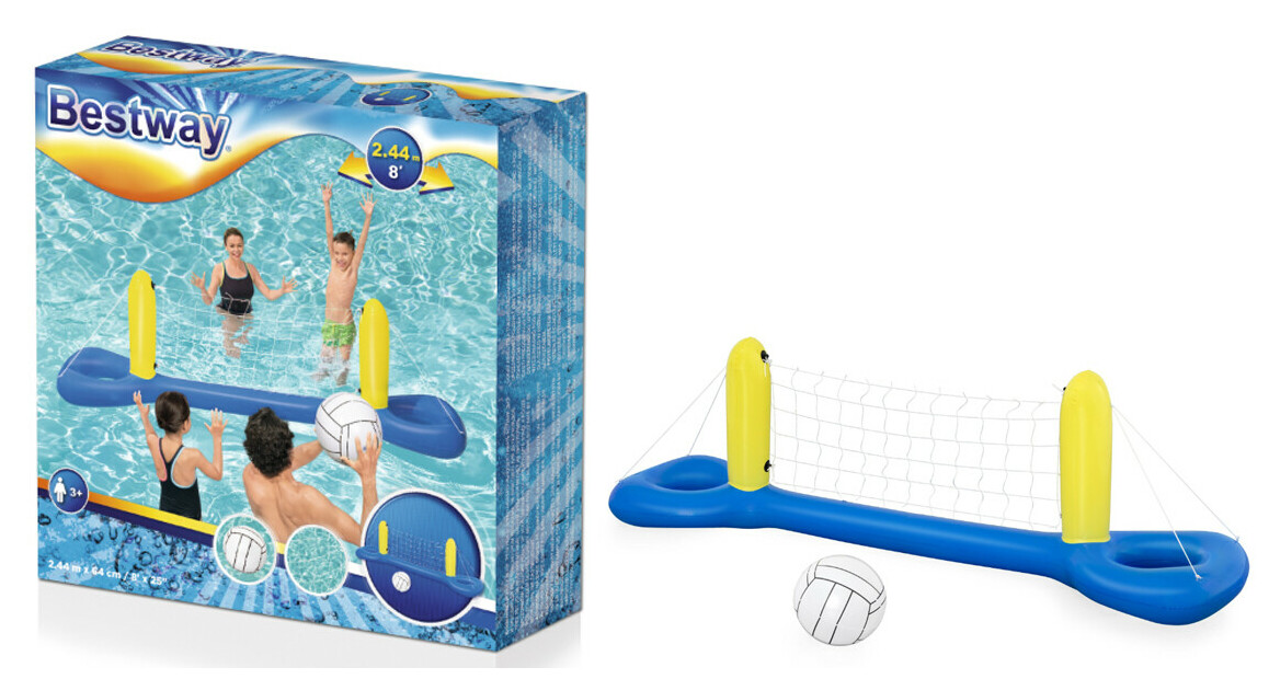 détails du filet de volley ball gonflable bestway