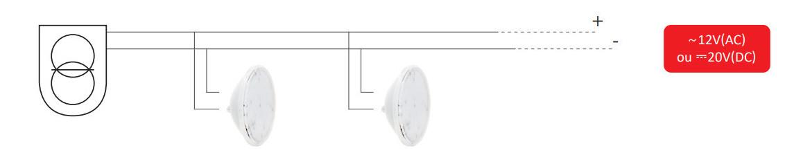 installation de la lampe led par56 standard