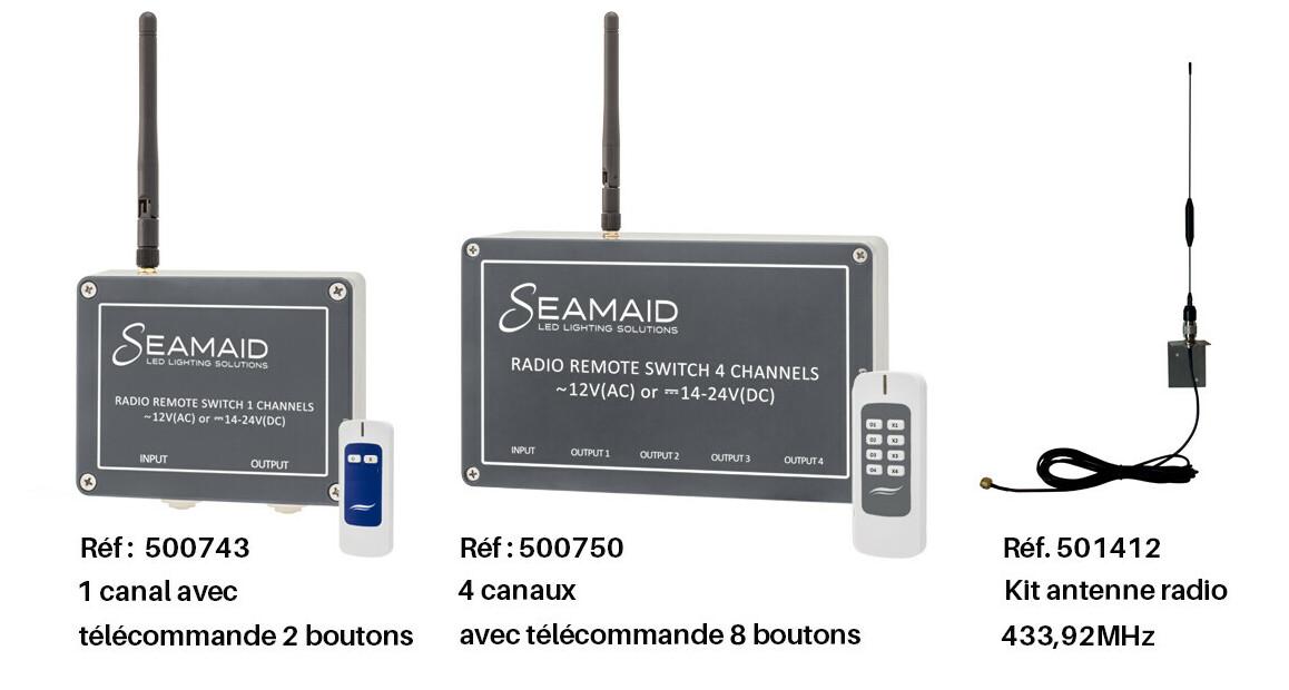 module radio pour lampe led par56 seamaid