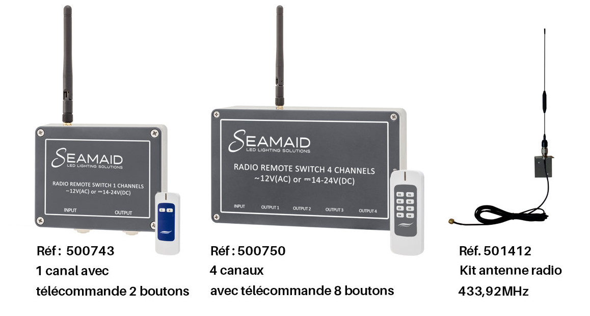 module radio pour mini projecteur led seamaid