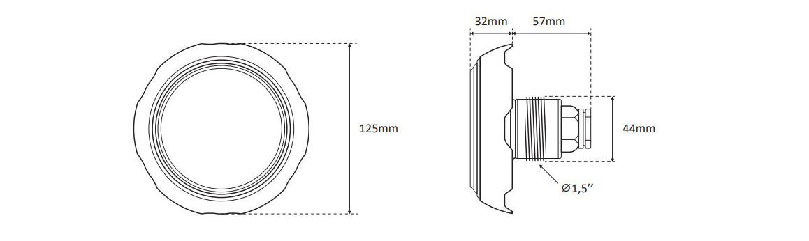 dimensions du mini projecteur led seamaid