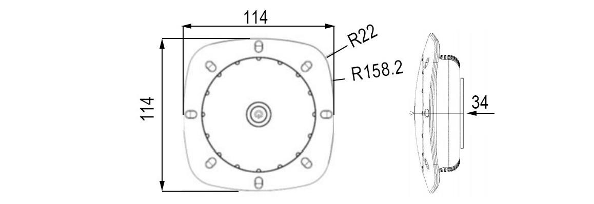 dimensions du projecteur led rechargeable notmad