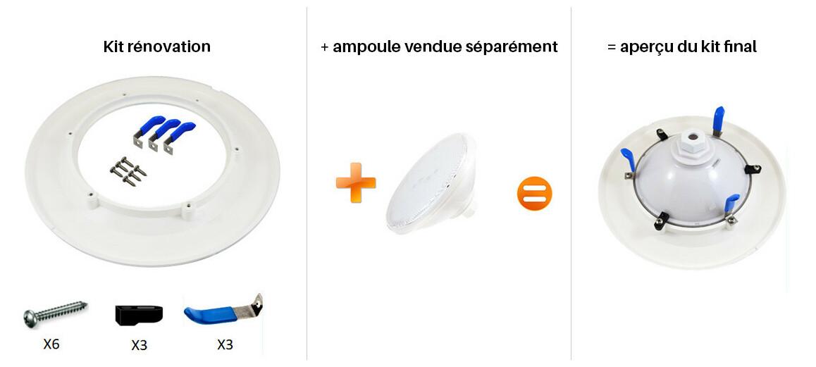 kit rénovation pour lampe led ecoproof par56 ecoproof standard