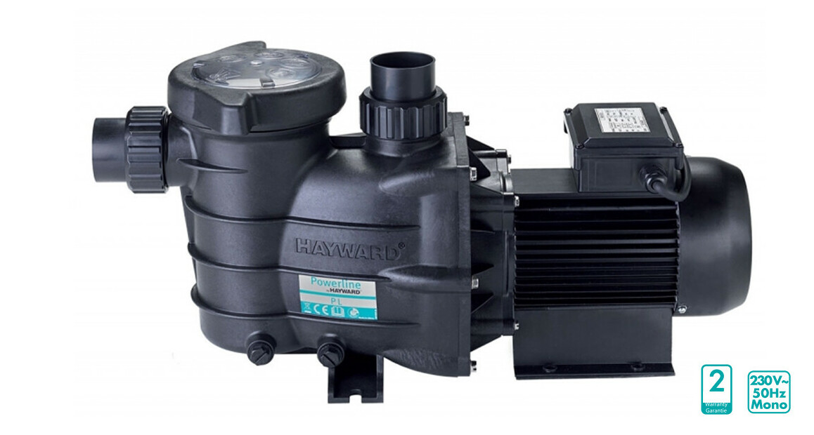 pompe de filtration powerline hayward en situation