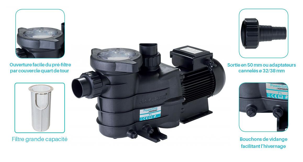 descriptif de la pompe de filtration powerline by hayward