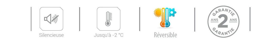 pictogramme avantages pompe à chaleur heat relax hayward
