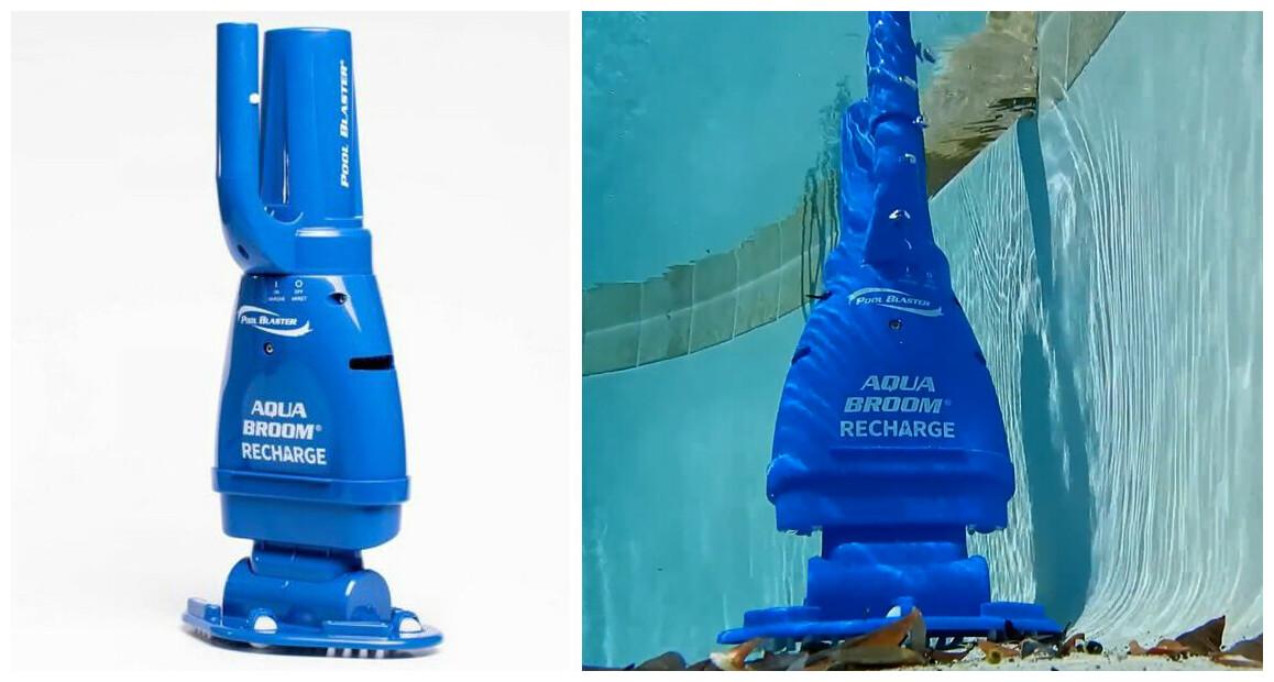 aspirateur Aqua Broom rechargeable en situation