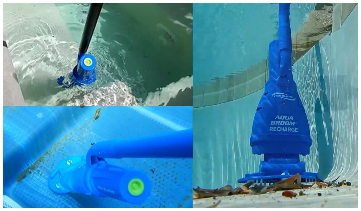 aspirateur aquabroom rechargeable pour piscine et spa