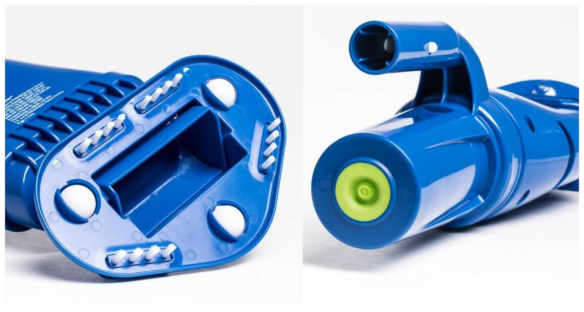 détails de l'aspirateur aquabroom rechargeable pollblaster