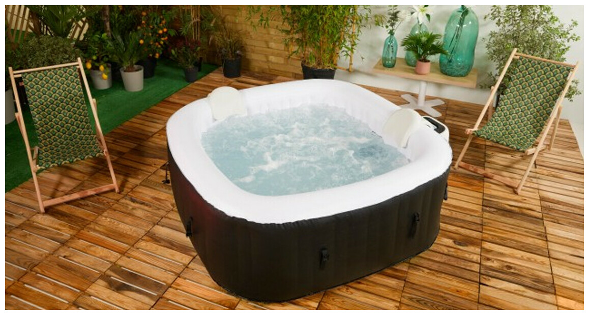 spa gonflable cocooning water en situation
