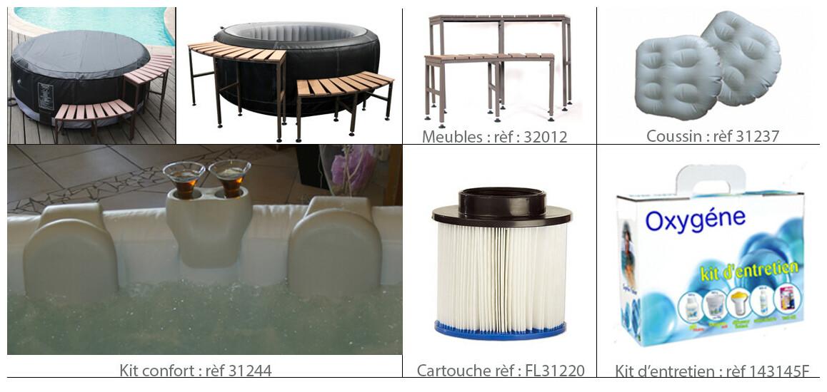 accessoires du spa cocooning water en situation