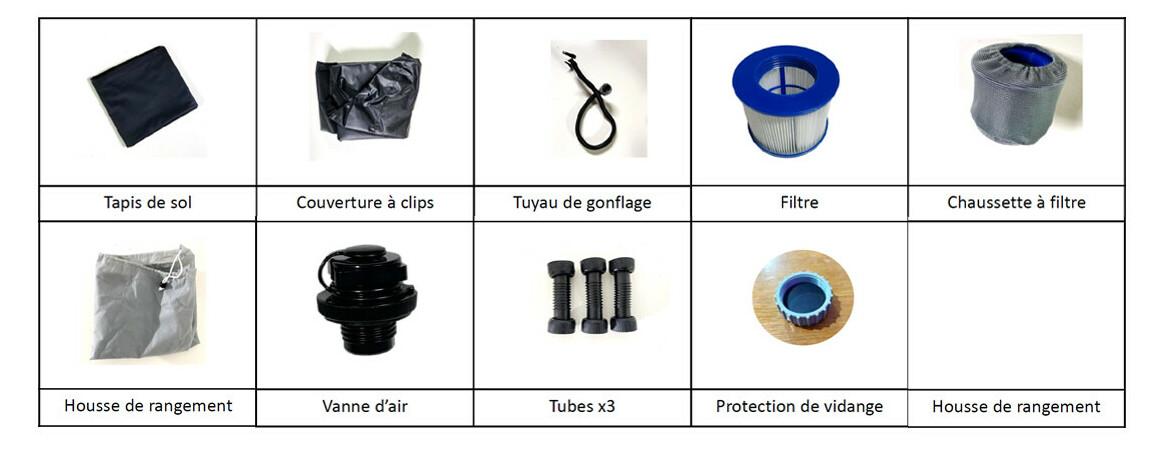 accessoires inclus du spa cocooning water en situation