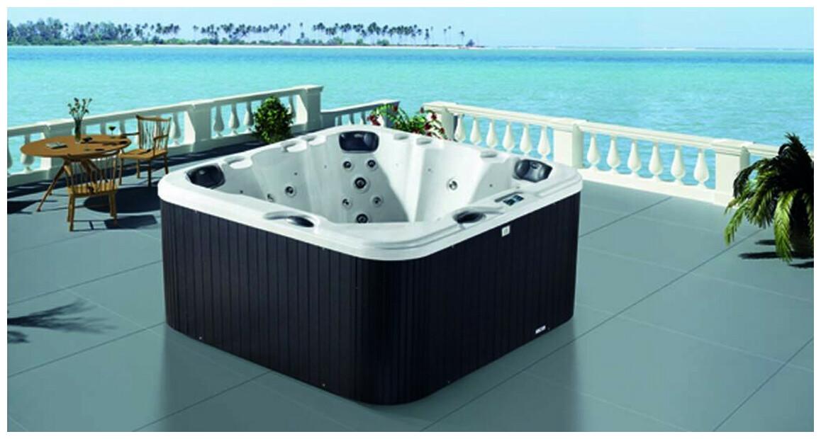 spa rigide 5 places Luxa carré waterclip
