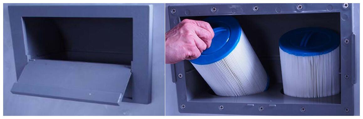filtration du spa rigide 5 places water health nola et luxa