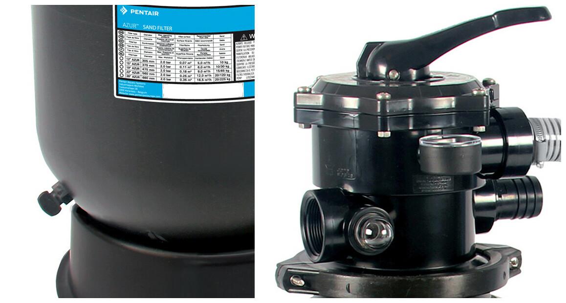 détails du groupe de filtration Pentair Azur
