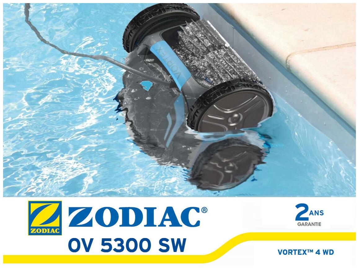 robot piscine vortex OV5300 SW par Zodiac en situation