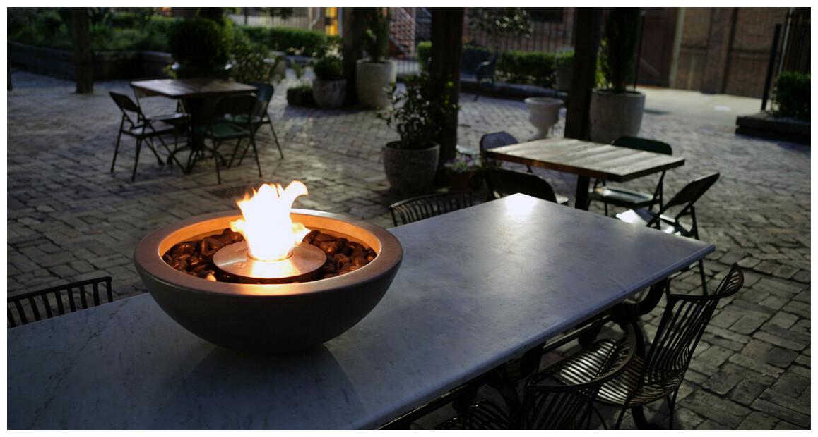 table extérieur au bio éthanol Ecosmart Fire Série Mix