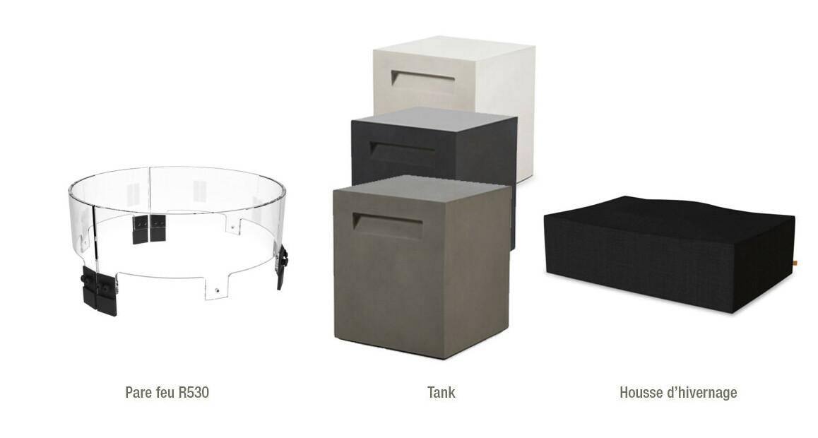 accessoires optionnels de la cheminée extérieure à l'éthanol ecosmart fire