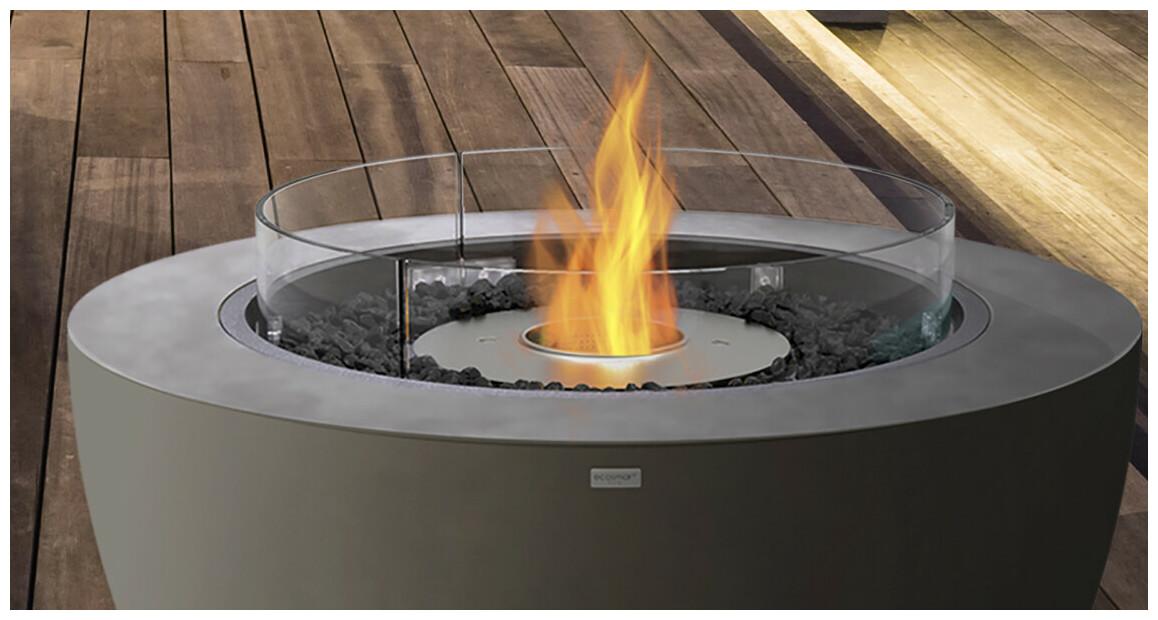 flamme stable et harmonieue de la cheminée extérieure au bio éthanol ecosmart fire série pod