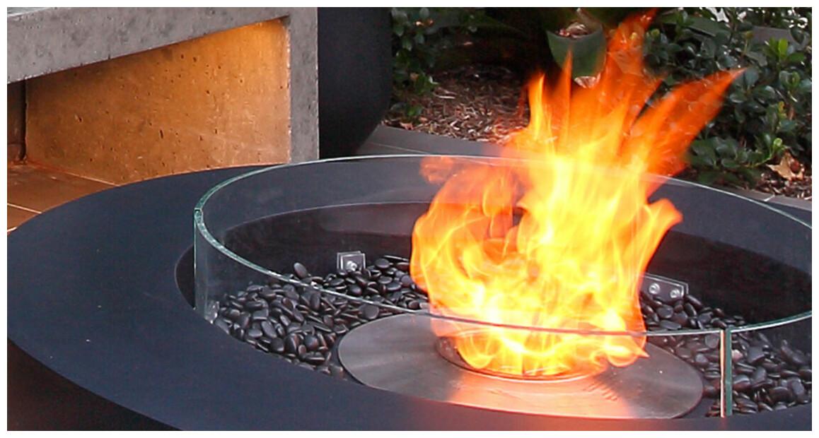 flammes du brûleur à l'éthanol ab8 ecosmart fire