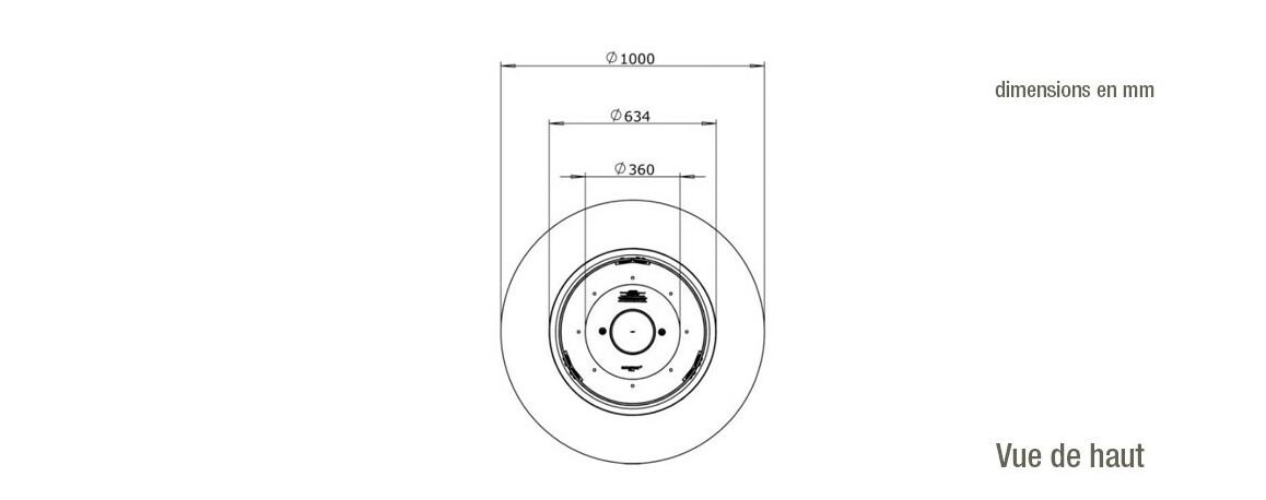 dimensions cheminée extérieure ark 40 ecosmart fire