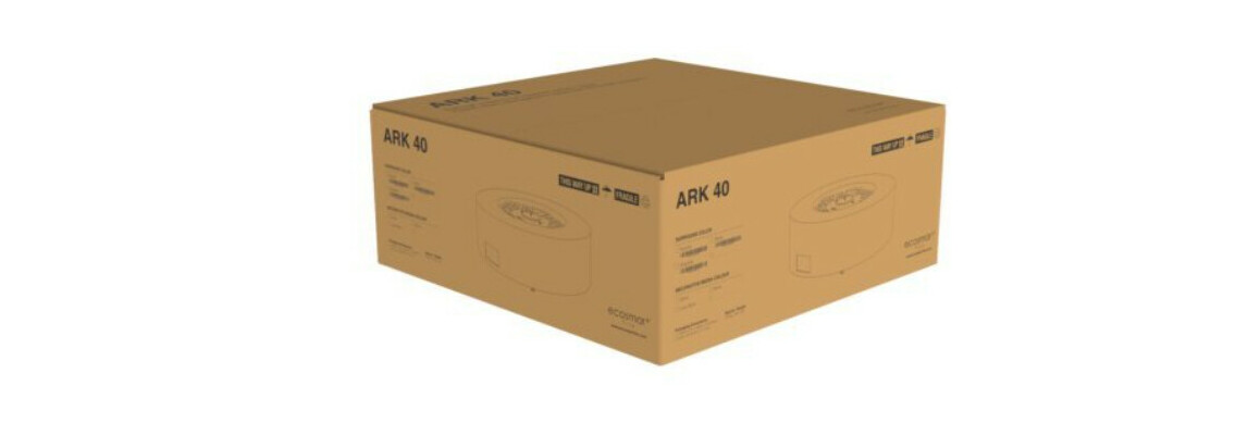 emballage de la cheminée à l'éthanol ark 40 ecosmart fire
