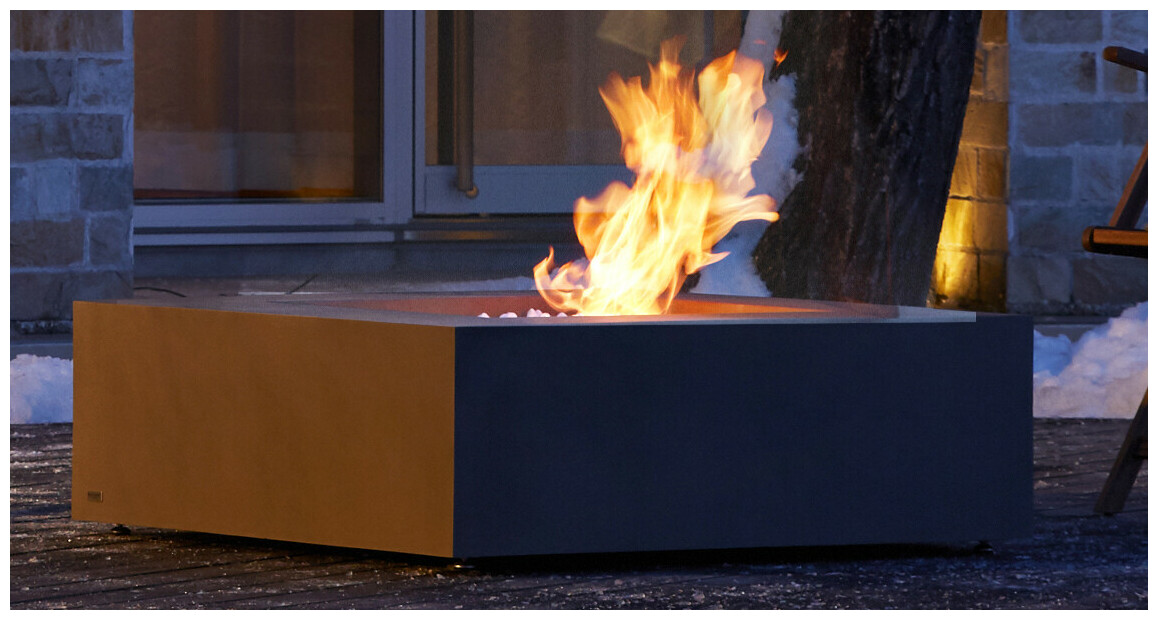 flamme de la chemeinée à l'étahnol base 40 ecosmart fire