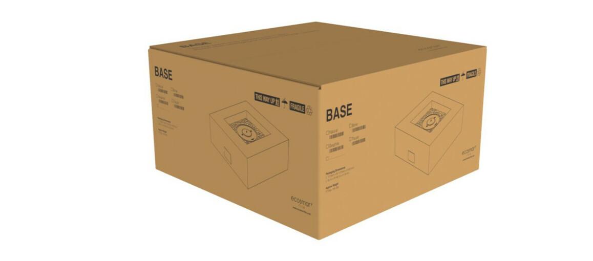 emballage de la table extérieure avec brasero Base 40 par ecosmart fire