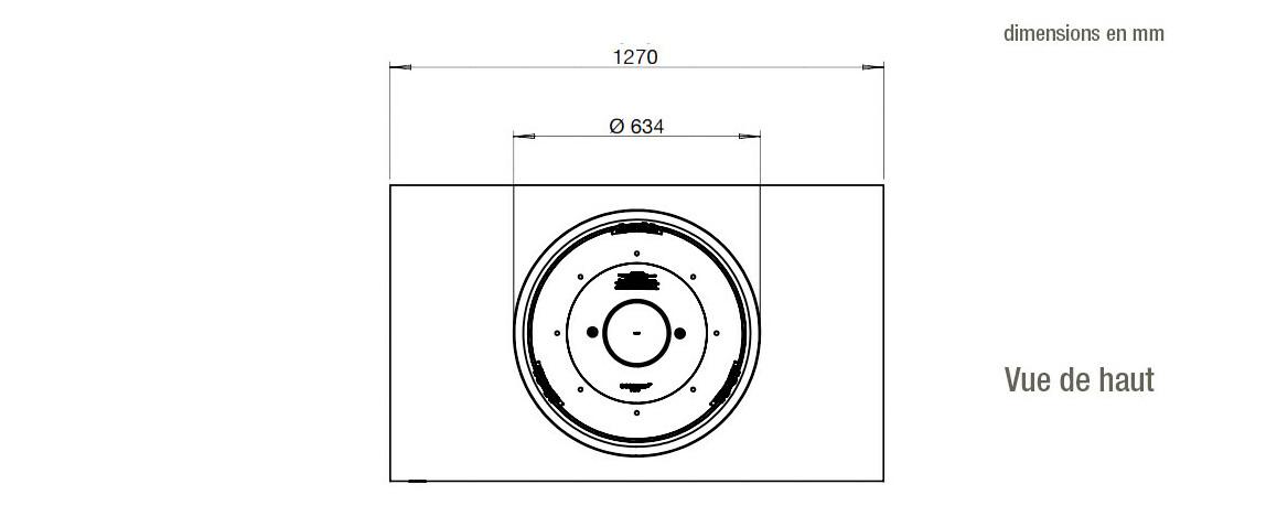 dimensions de la cheminée ecosmart fire martini 50