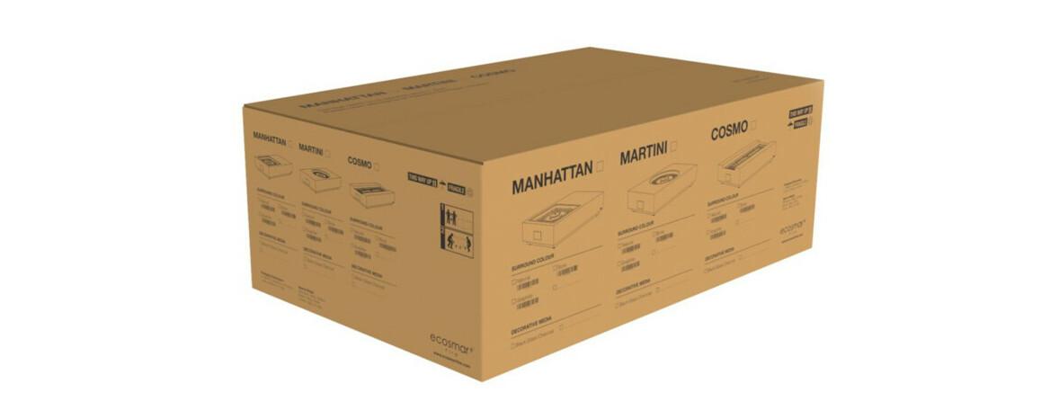 emballage de la cheminée à l'éthanol martini 50