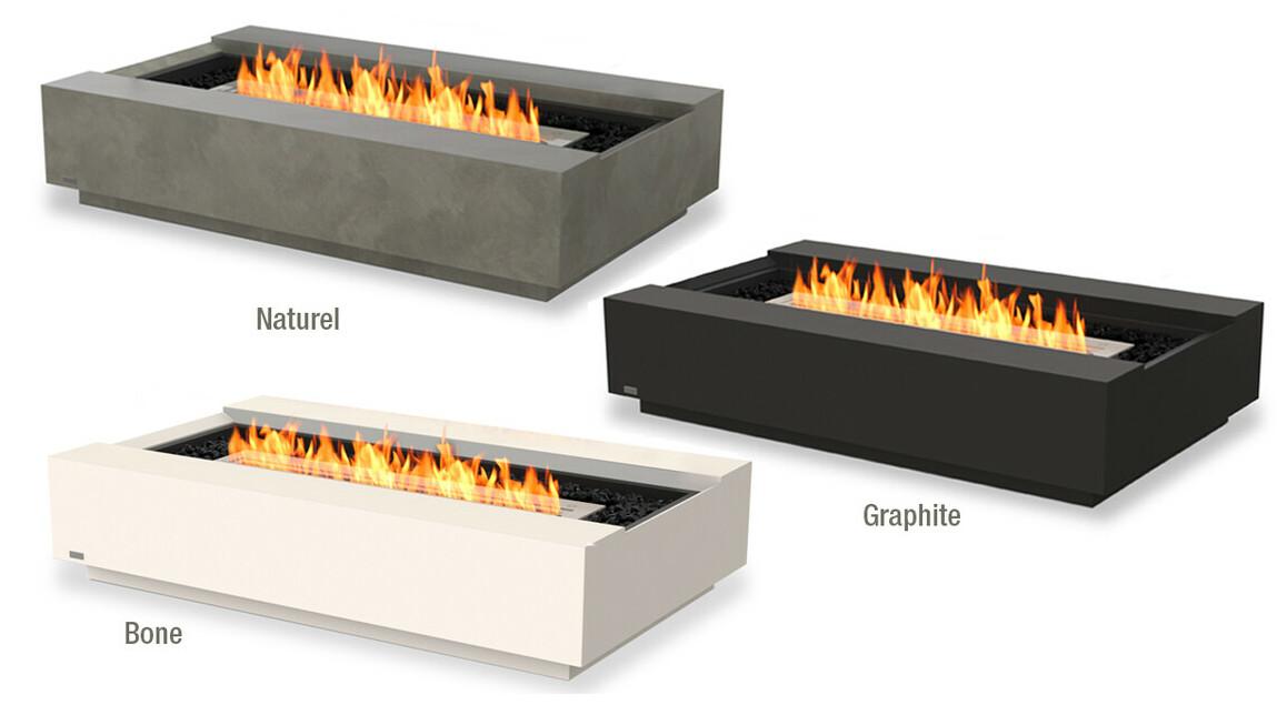 Finition de la cheminée à l'éthanol Ecosmart Fire Cosmo 50
