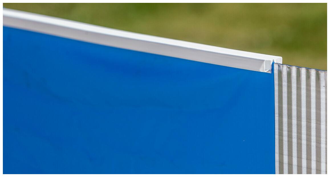 liner pour piscine hors sol en acier aspect graphite